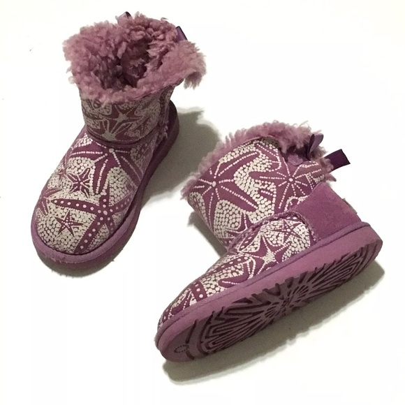 1d21c45f8f2 Ugg Toddler Girls Bailey Bow Boots Purple 11.5